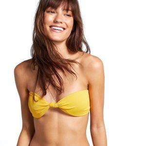 Beach Riot Nadia Ribbed Knit Bandeau Bikini Top